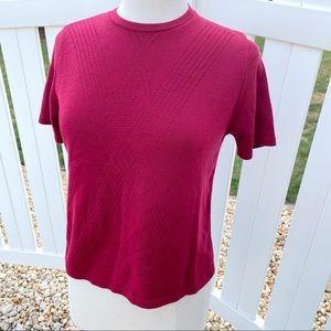 💋3/$25💋 VTG Alfred Dunner Solid Pink Blouse